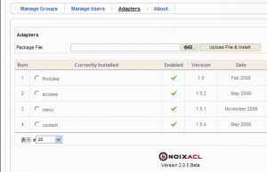 nonixACL_26_Manage_Adapters